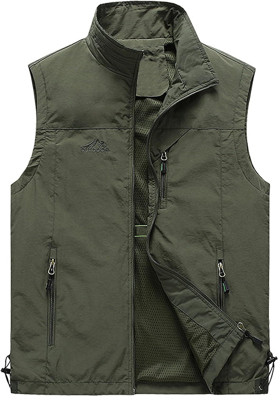Lentta Mens Summer Outdoor Work Safari Fishing Travel Photo Cargo Vest Multi Pockets