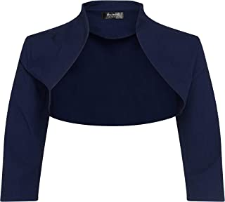 Bolerose 3/4 Sleeve Formal Tailored Bolero Shrug