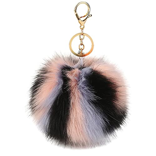 Cute Pom Pom Fluffy Keychain Keyring Purse Bag Pendant Decor Accessory  (Color 02) e9b022f74c27