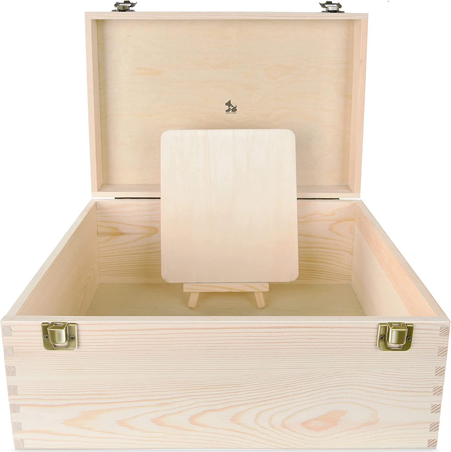 Large Unfinished Pine Wood free Box with Hinged Decorative DIY Max 69% OFF Lid -