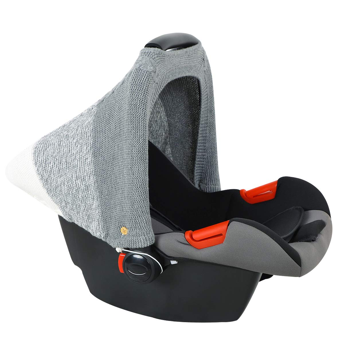 DaMohony Baby Car Seat Cover, Toddler Knit Stretchy Breathable Infant Stroller Cover Carseat Canopy