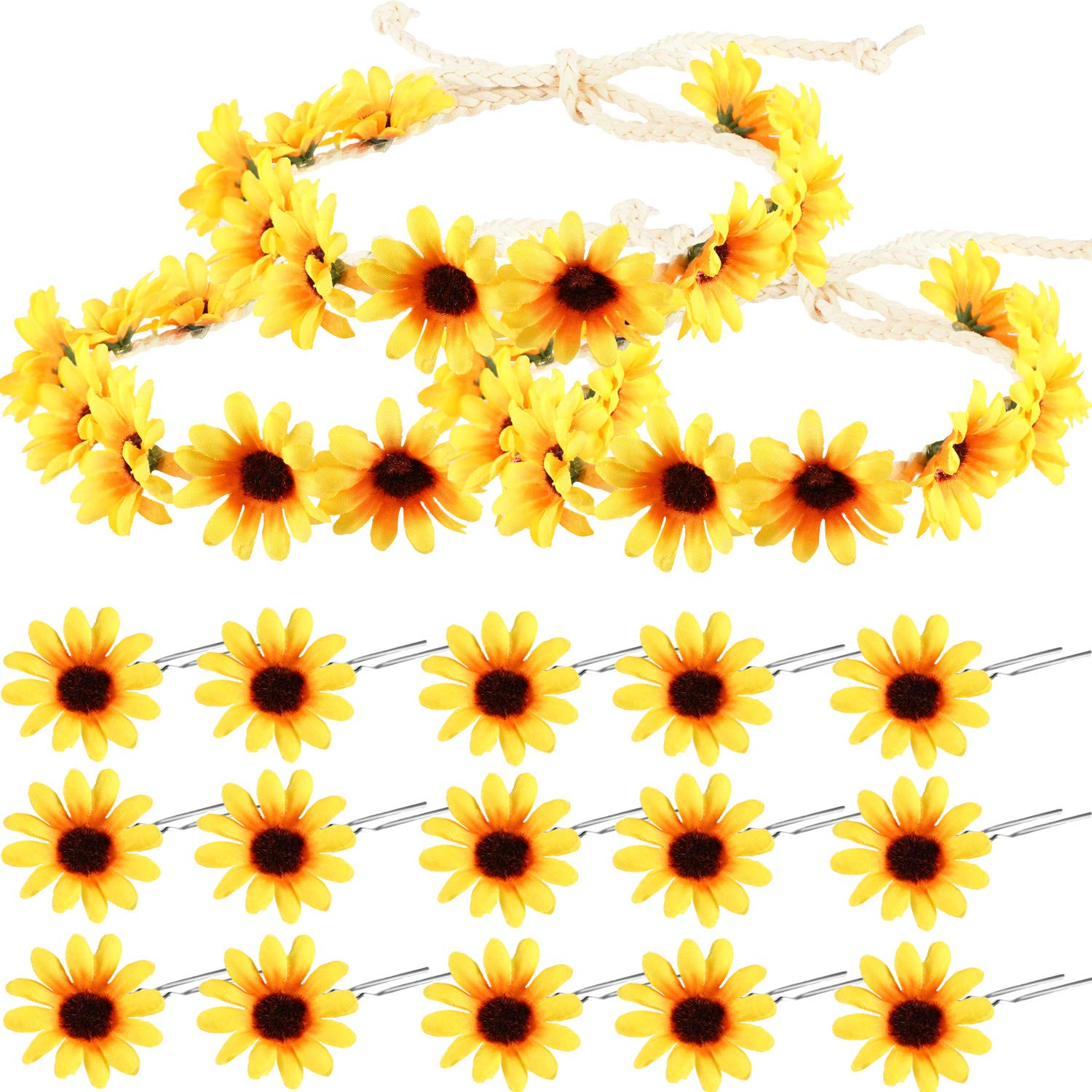 Sunflower Headband Wreath Crown and Hair Cli Limited price 67% OFF of fixed price