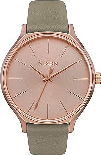 ساعة نيكسون كليكيو النسائية العصرية (38 مم سوار جلدي) Rose Gold/Gray