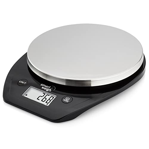 Smart Weigh Bascula Multifuncional para Cocina y comida con Plataforma en Acero Inoxidable, Pantalla grande