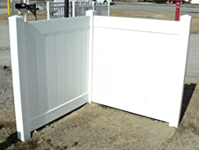 White PVC Fence Corner - Privacy - Driveway/Garden Accent - Garbage Can/AC Unit Enclosure