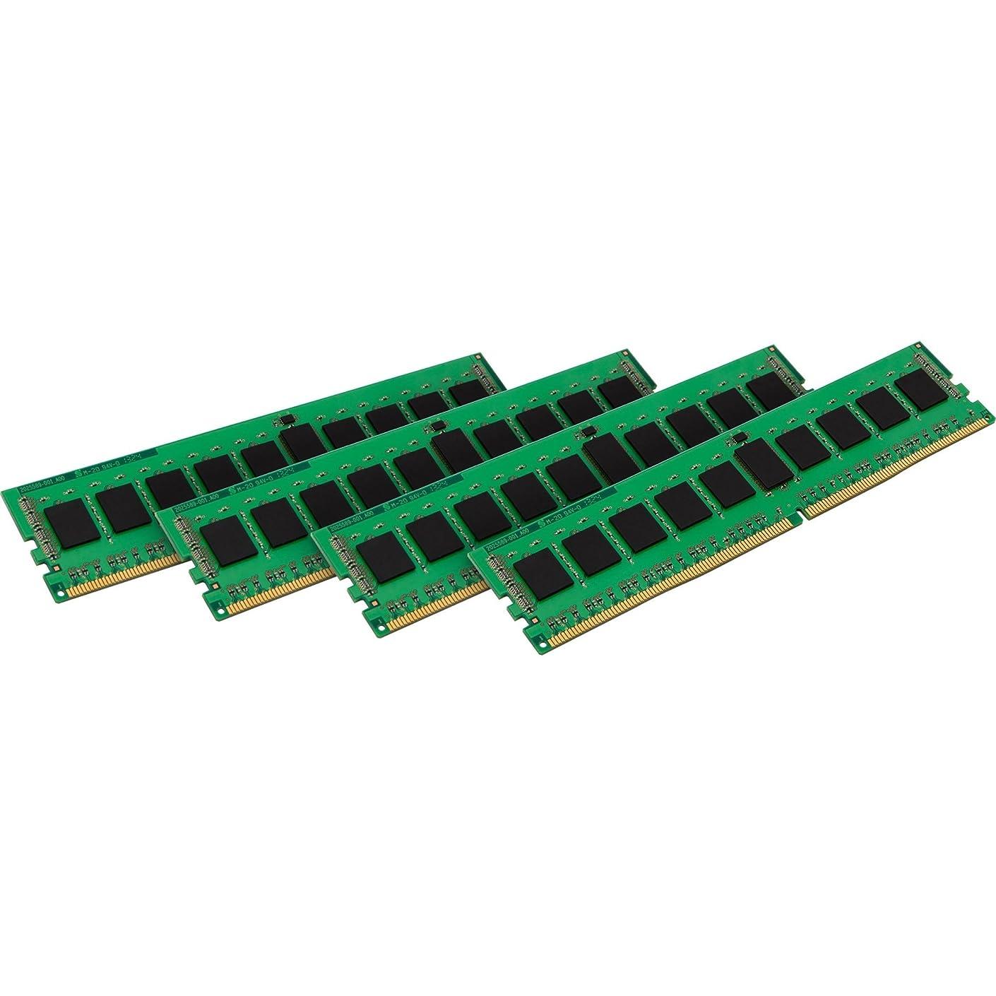 Kingston 32GB Kit (4x8GB) - DDR4 2133MHz - 32 GB (4 x 8 GB) - DDR4 SDRAM - 2133 MHz DDR4-2133/PC4-17000 - 1.20 V - ECC - Registered - 288-pin - DIMM - KVR21R15S4K4/32