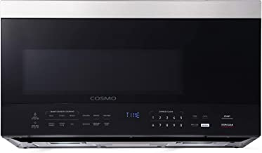 Cosmo COS-3016ORM1SS Over the Range Microwave Oven with Vent Fan, Smart Sensor, Touch Presets, 1000W & 1.6 cu. ft. Capacit...