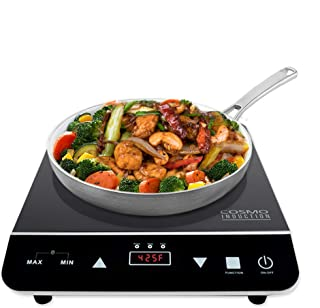 Cosmo Portable Electric Induction Cooktop with Rapid Heating, Sensor LED Display, Safety..