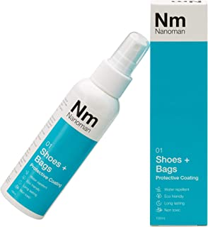 Water Repellent / Waterproof Spray for Fabric & Shoes. Latest Nano-Technology Formula. Eco friendly. No Fluoropolymers or Alcohols. Stain & Liquid Protection Spray for Shoes and Bags including Fabric, Suede, Leather and Canvas (100mL)