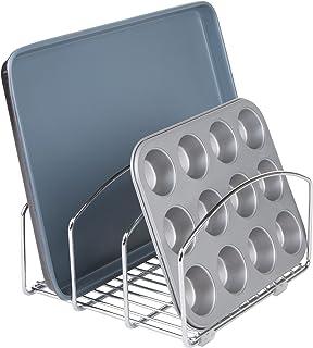 iDesign 48710EU Rangement Classico Kitchen Cookware pour Planches à découper/assiettes-20,32 cm, Chrome, Steel, 21,3 x 25,...