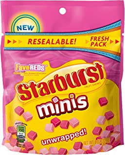Starburst FaveREDS Minis Fruit Chews Candy, 8 ounce (Pack of 8)