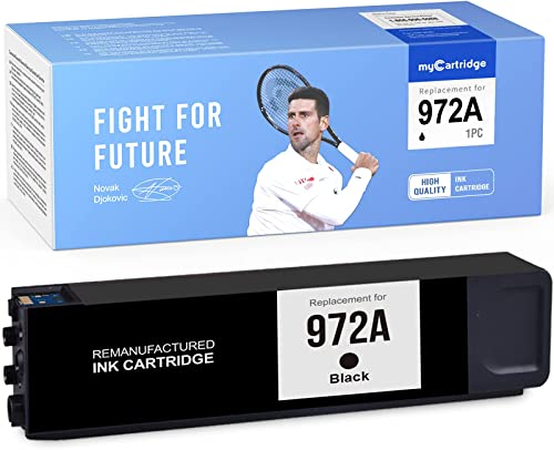 2021 MYCARTRIDGE high quality Remanufactured Ink high quality Cartridge Replacement for HP 972 972A Black use with PageWide Pro 477dw 577dw 377dw 477dn 452dn 452dw 552dw (1-Pack) online sale