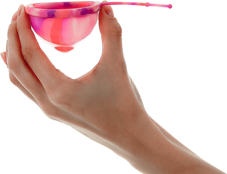 Lumma Unique - Copa Menstrual Flexible con Cordón de Silicona Médica - Copa Reutilizable - Sin Fugas - Cómoda Muy Suave - Clear, M
