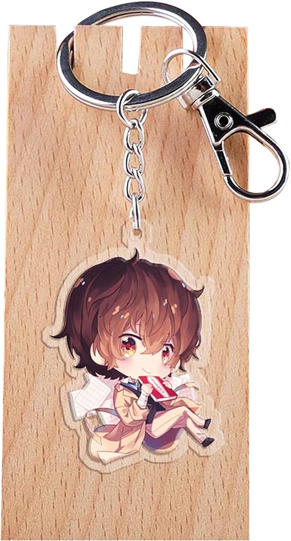 5/5.5cm Osamu Dazai PVC Keychain, Akiko Yosano Double Sided Key Chain Acrylic Pendant Nakajima Harukawa Cosplay Keyring