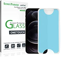 """amFilm OneTouch Glass Screen Protector Compatible for iPhone 12 Pro Max (6.7"""", 2020) (2 Pack)"""