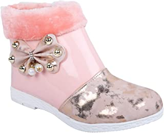 LNG Lifestyle Girls Zip Casual Boots (BabyPink)