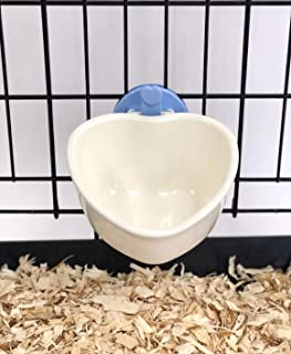 Choco Nose H607 Small Dog Cat Rabbit Food Bowl. Pet Wire Cage Removable Feeder Cute Mini Heart Shape Crate Animal Feeding ...