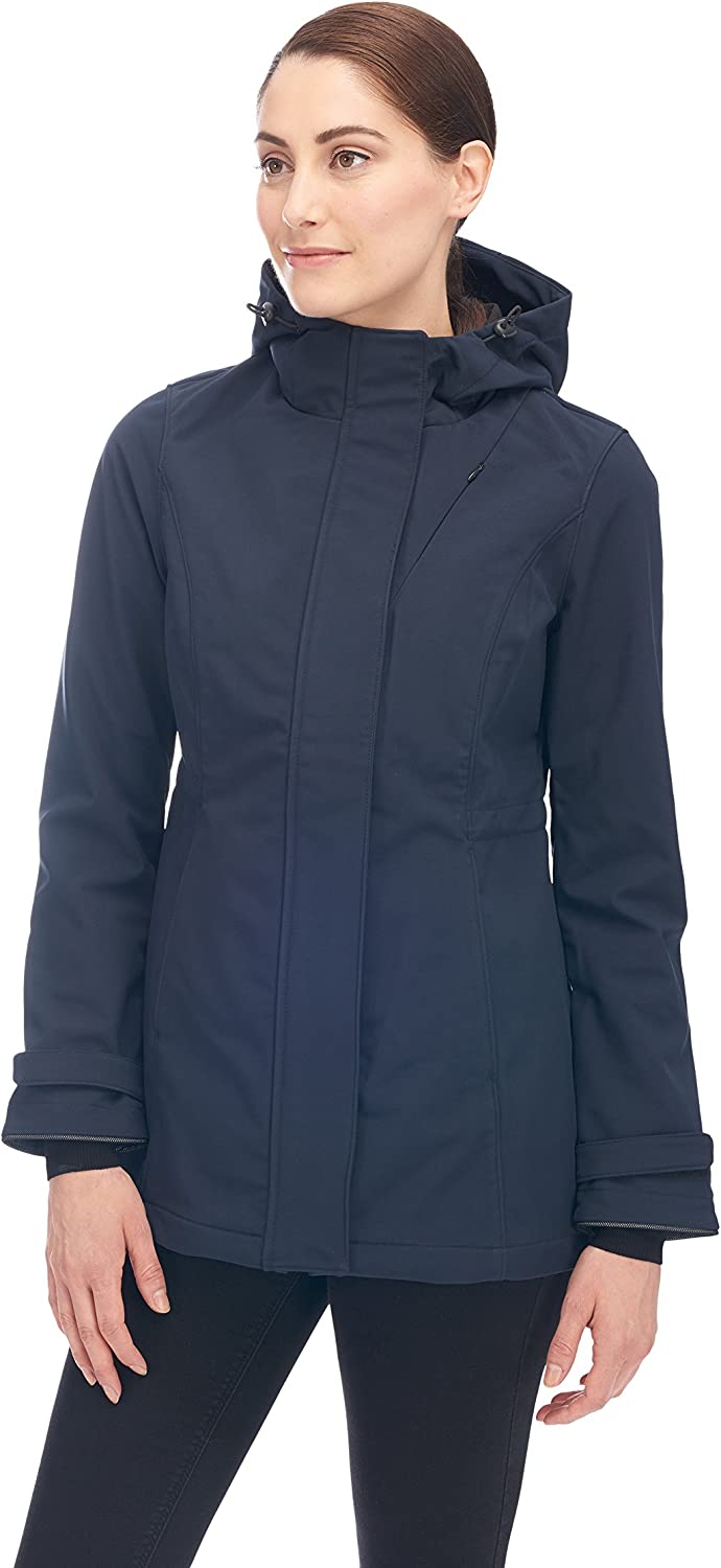 Alpine North Women's Lightweight Soft-Shell Coat Fleece Lined Warm Hooded Jacket : Clothing, Shoes & Jewelry