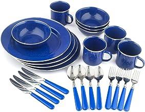 مجموعة أدوات المائدة الفاخرة المصنوعة من المينا مكونة من 24 قطعة من ستانسبورت، أطباق وأوعية وأكواب