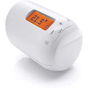 Eurotronic GENIUS LCD 100 Heizkörperthermostat, bis 30 % Heizkosten sparen, per App steuerbar, Heizungsthermostat inkl. Adapter + Batterien, Smarthome-Zubehör