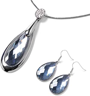 Best gray crystal necklace Reviews