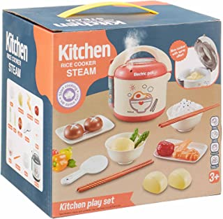Chengjun Toys Kitchen Rice Cooker Steam with Accessories for Kids - Multi Color