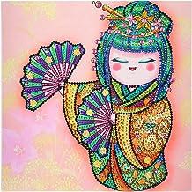 Garuru-Jidong DIY Part Special Shape Diamond Painting Kit 5D Japanse pop tekening