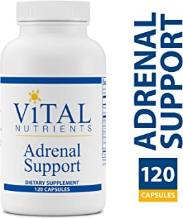 Vital Nutrients - Adrenal Support - Suitable for Men and Women - Supports Adrenal gland function, Support Mild Stress and Anxiety, and Promotes a Healthy Immune System - 120 Capsules per Bottle