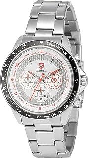 Bramble Shark Men's Analog Date Day Sport Quartz Stainless Steel Band Wrist Watch SH245