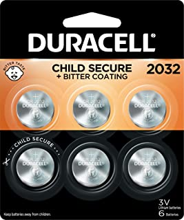 Duracell – 2032 3V Lithium Coin Battery – with Bitter Coating – 6 Count