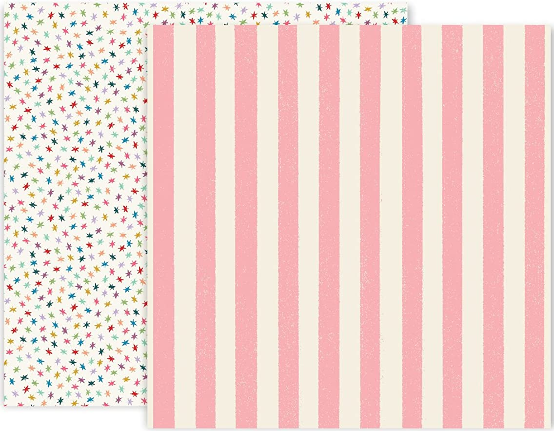 We R Memory Keepers 25 Pack of 12 x 12 Inch Patterned Paper 04 Pink Paislee Wild Child Piece