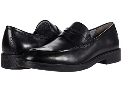 Johnston & Murphy Maddox Penny (Black Full Grain Waterproof Leather) Men