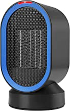 NEXGADGET Ceramic Personal Heater,Mini Space Heater with Auto Oscillation,ETL Listed,Smart Touch Control, Fan Heater with Over-Heating&Tip-Over Protection for Office Home Desk,Tabletop-600 Watt