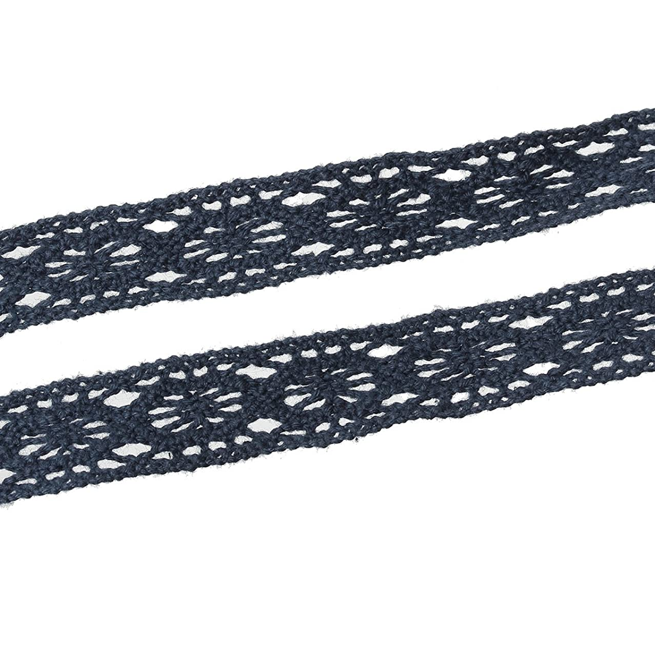 Polyester Crochet Lace Trim Gray 14mm(4/8
