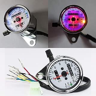 FidgetKute LED Dual Speedometer Odometer Gauge for Yamaha V-Star 650 Custom Classic XVS650