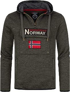 Geographical Norway UPCLASS Men - Sudadera con Capucha para Hombre con Bolsillo Tipo Canguro - Sudaderas con Logo para Hom...