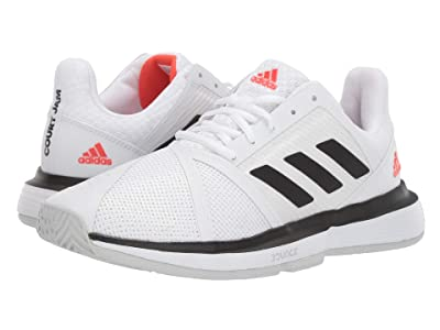 adidas CourtJam Bounce (Footwear White/Core Black/LGH Solid Grey) Men