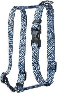 Yellow Dog Design Blue Tweed Roman Style H Dog Harness, Large