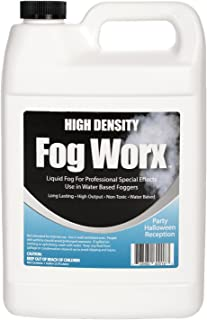 FogWorx Extreme High Density Fog Juice Gallon - Long Lasting, High Output, Odorless Water Based Fog Machine Fluid - for 400 Watt to 1500 Watt Machines
