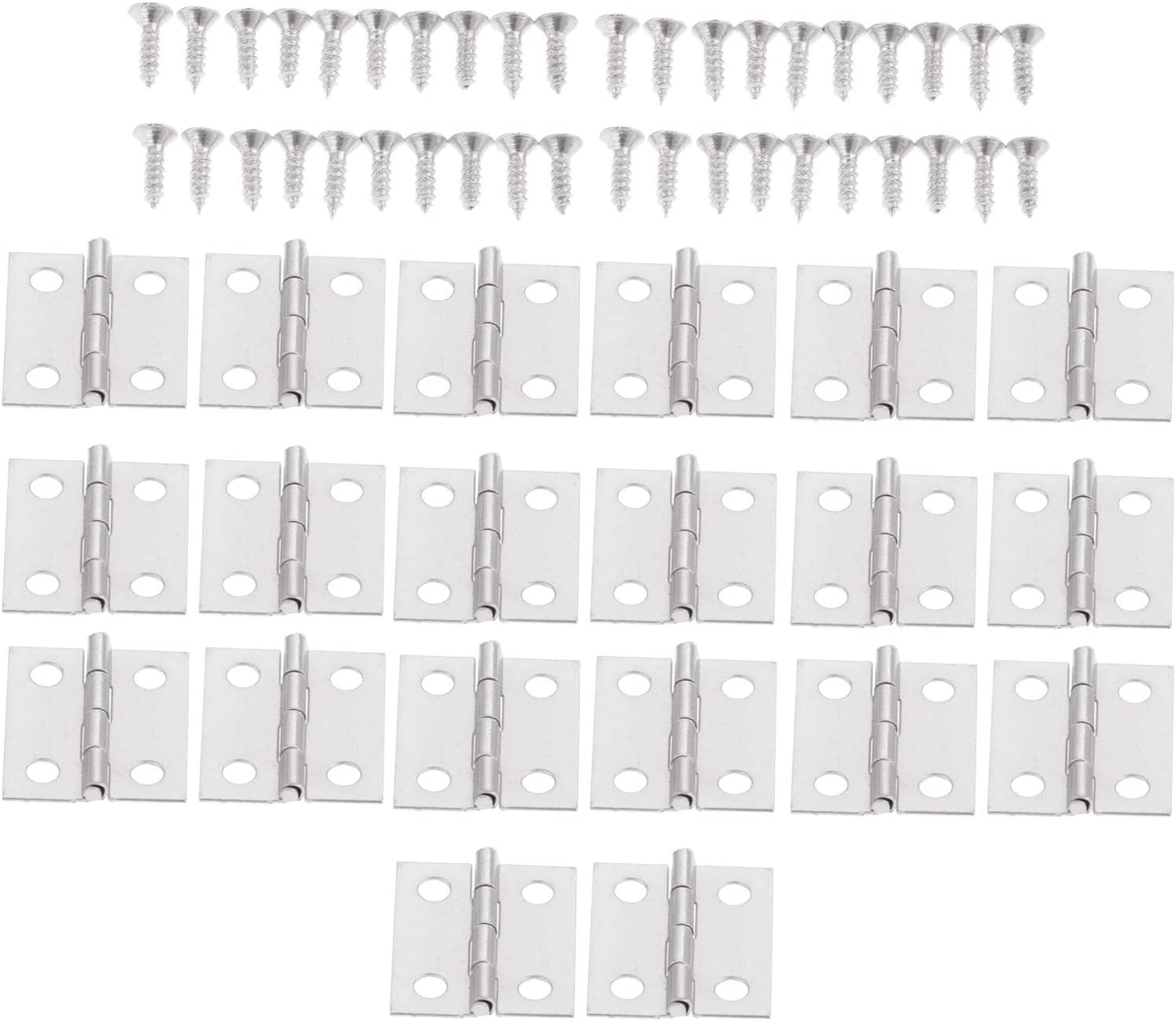 QFDM Cabinet Hinges 20Pcs Silver//Gold Door Cabinet Hinges Antique Jewelry Wood Boxes Luggage Hinges Furniture Decoration w//Screws 1816mm Parts Replacement Color : Gold