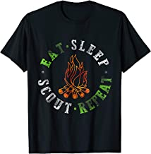 Eat Sleep Scout Repeat Camping T-Shirt Scouting Lover Tee