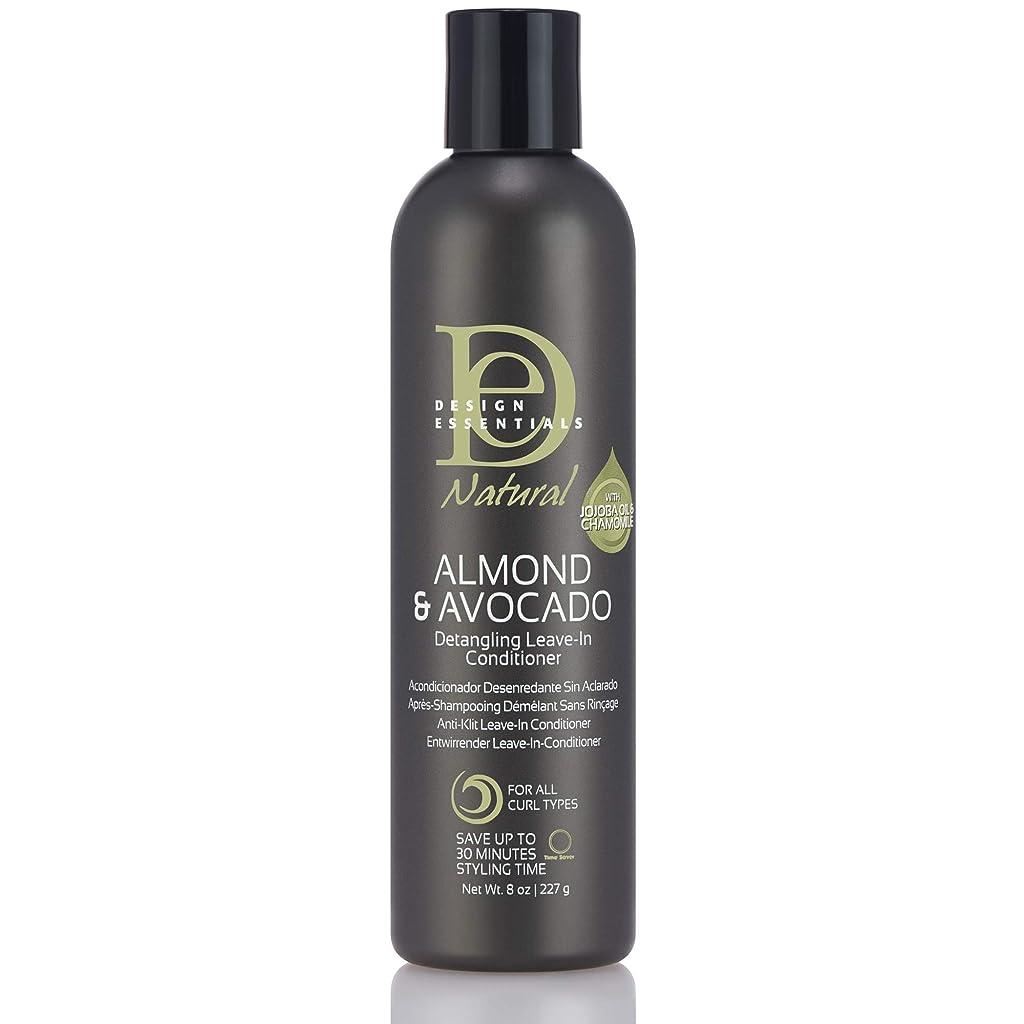 リムゴールデン憤るDesign Essentials Natural Instant Detangling Leave-In Conditioner for Healthy, Moisturized, Luminous Frizz-Free Hair-Almond & Avocado Collection, 8oz.