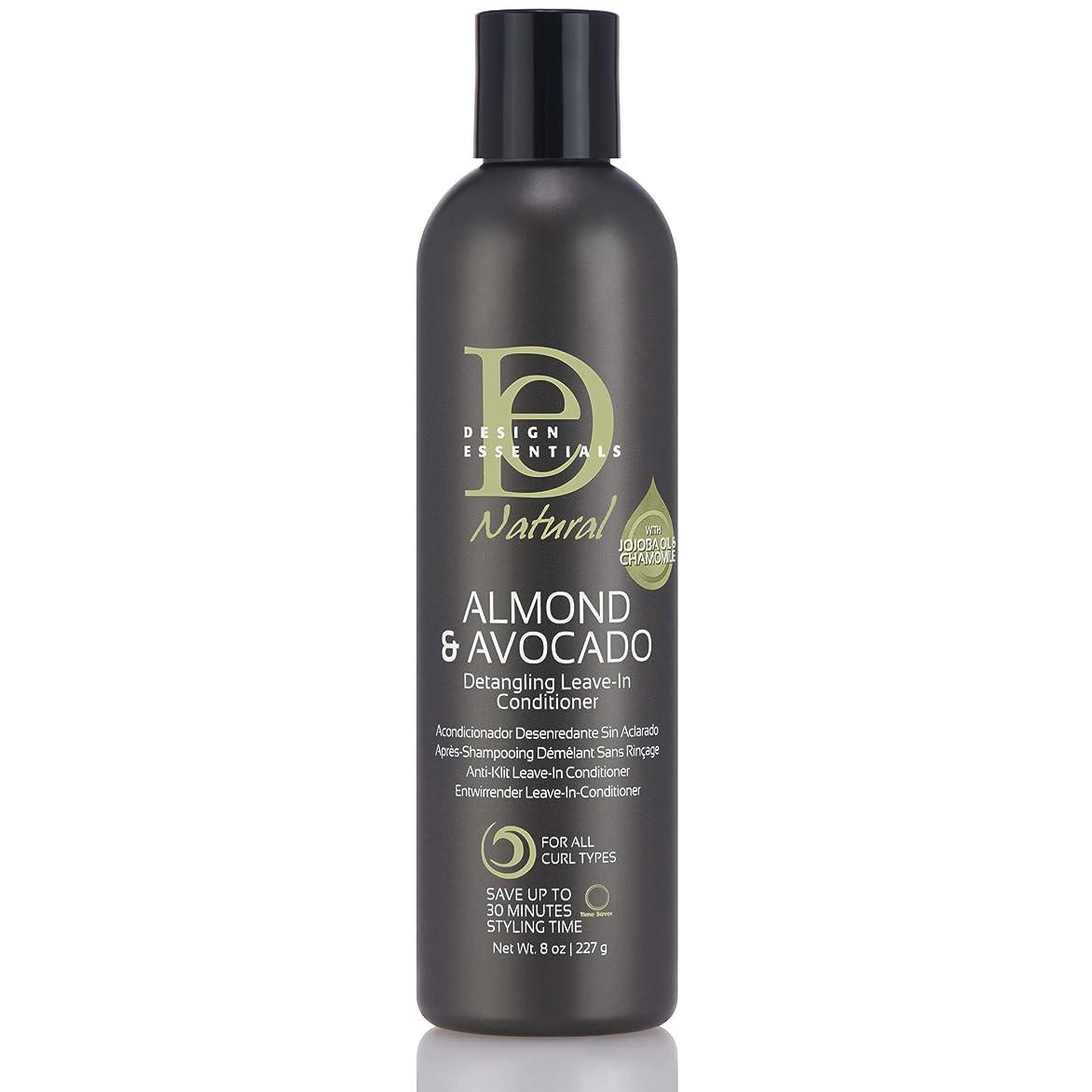 寛大さ浅い変わるDesign Essentials Natural Instant Detangling Leave-In Conditioner for Healthy, Moisturized, Luminous Frizz-Free Hair-Almond & Avocado Collection, 8oz.