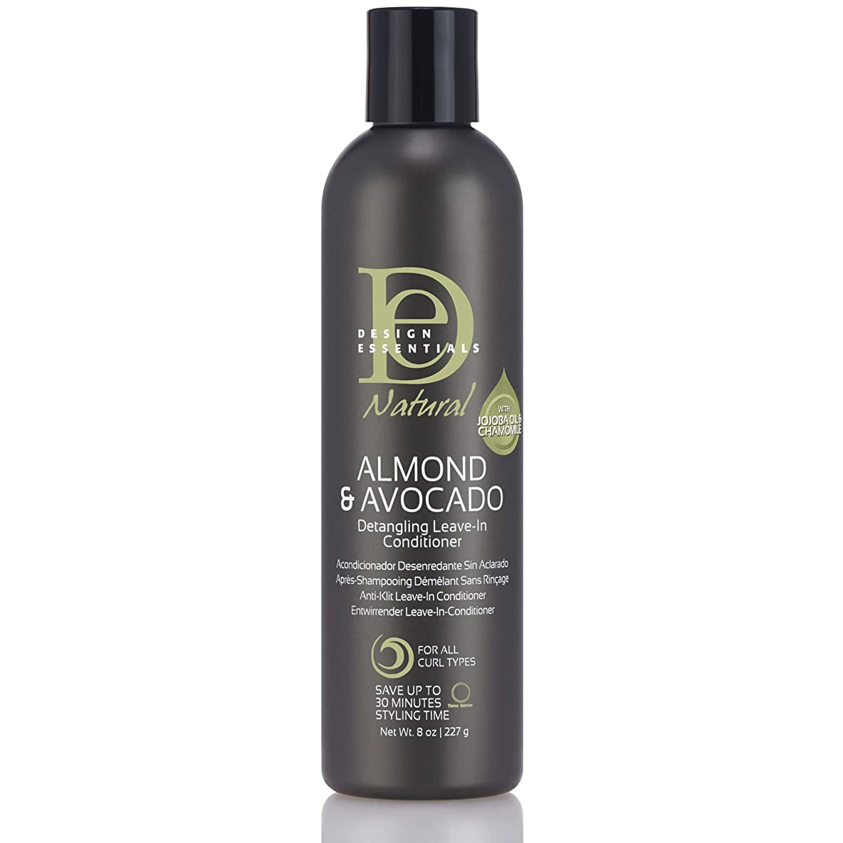 イノセンス反論者薄暗いDesign Essentials Natural Instant Detangling Leave-In Conditioner for Healthy, Moisturized, Luminous Frizz-Free Hair-Almond & Avocado Collection, 8oz.