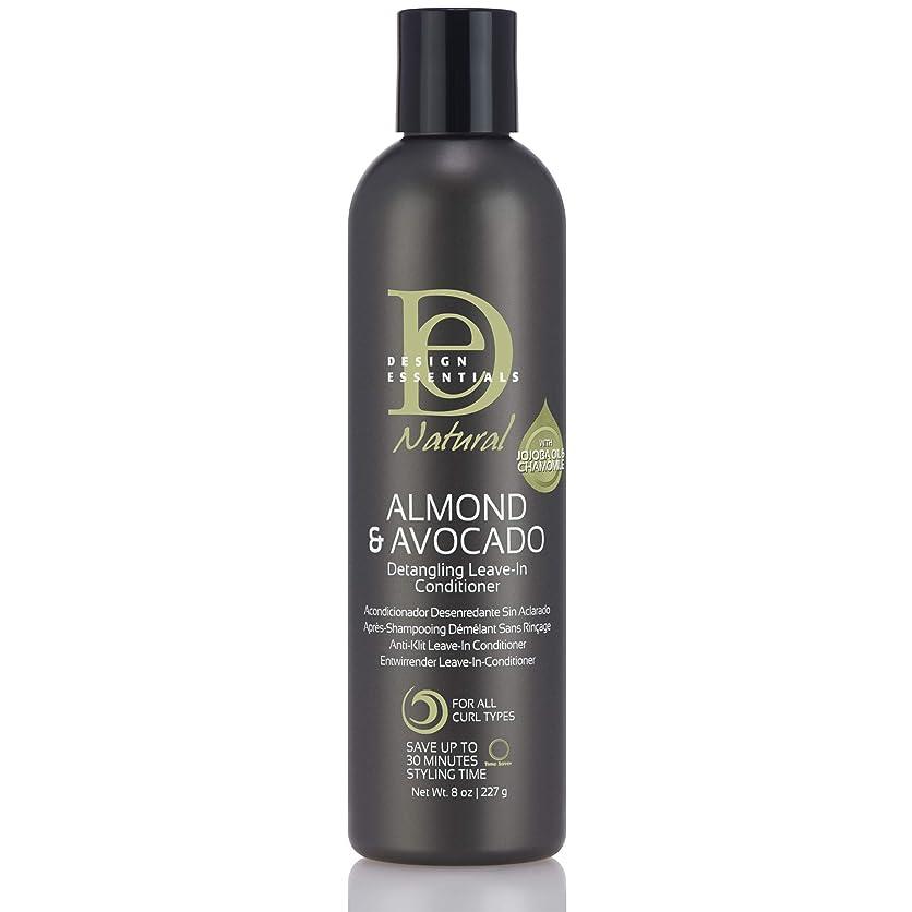 正当なマウントバンクたぶんDesign Essentials Natural Instant Detangling Leave-In Conditioner for Healthy, Moisturized, Luminous Frizz-Free Hair-Almond & Avocado Collection, 8oz.