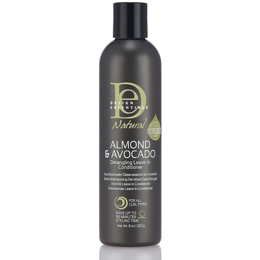 いいね東大人Design Essentials Natural Instant Detangling Leave-In Conditioner for Healthy, Moisturized, Luminous Frizz-Free Hair-Almond & Avocado Collection, 8oz.