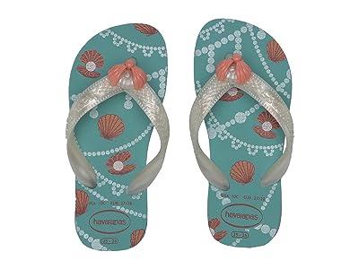 Havaianas Kids Fantasy Flip Flops (Toddler/Little Kid/Big Kid) (Ice Blue/Mermaid) Girls Shoes