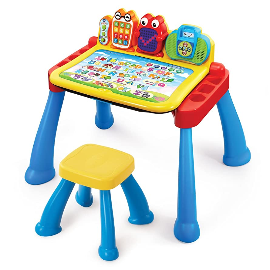 VTech Touch and Learn Activity Desk Deluxe (Frustration Free Packaging) (Renewed)