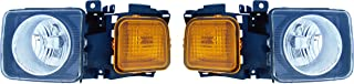 Epic Lighting OE Fitment Replacement Headlights Assemblies for 2006-2010 Hummer H3 H3T [HU2502100 HU2503100 15818967 15951164] Left Driver & Right Passenger Sides Pair