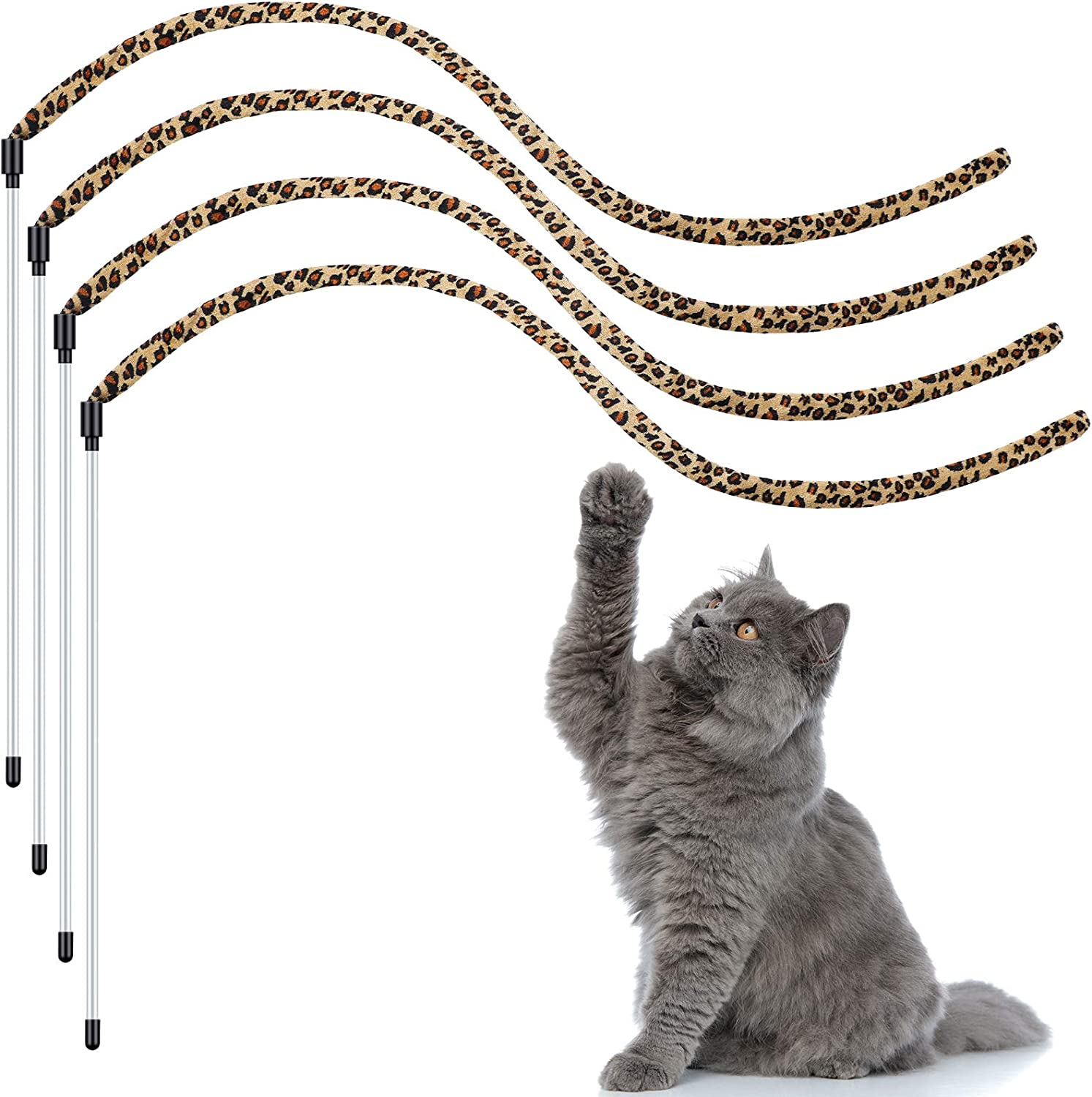 Chalyna 4 Pieces Cat Wand Memphis Mall Ranking TOP9 Wa Toys String Catcher Kitten